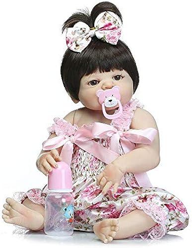 Hongge Reborn Baby Doll,Silikon-Vinyl regeneriert Baby Puppe realistische mädchen Baby Puppe Zoll 5cm realistisch Prinzessin Spielzeug Kinder B Irthday Geschenk