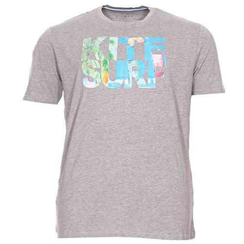 Kitaro Men Tshirt C 1/2, Silver Sconce Mel, Silber((5130)), Gr. 7XL