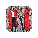 Goods-Store-uk M 6XL Chaqueta de invierno larga chaqueta de plumón de algodón con capucha larga chaqueta de mujer