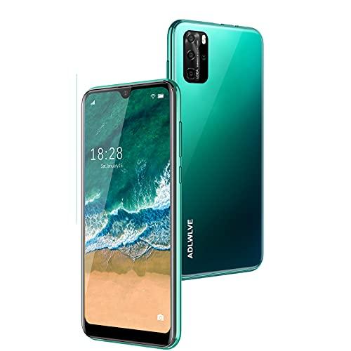 """Smartphone Offerta Del Giorno, 6,3"""" Waterdrop Schermo Android 9.0 Telefoni Cellulari, 4600 mAh, 3GB RAM+32GB ROM /64GB Espandibili, 8MP Camera, Dual SIM Cellulari Offerte (verde)"""