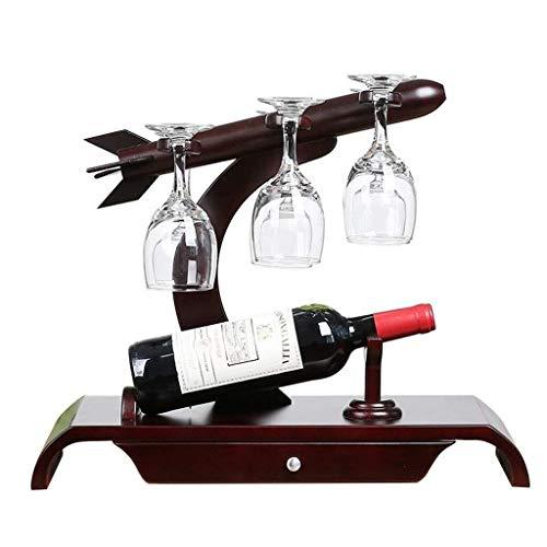 HJXSXHZ366 Estantería de Vino Estante botellero botellero botellero botellero Marco del Bastidor Bastidor for armarios de Madera Estante de Vino pequeño (Color : Brown, Size : 47.5 * 26.5 * 39.5 cm)