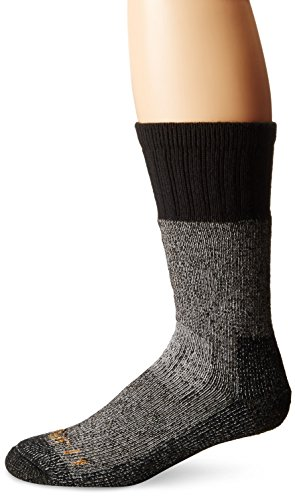 Carhartt Men's LG (US Extremes Cold Weather Boot Socks, BlackHeather, Shoe Size: 6-12
