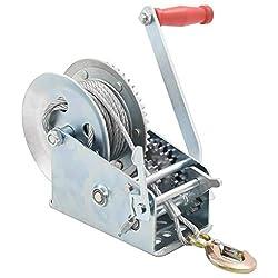 vidaXL Handseilwinde 907 kg Manuelle Winde 10 m Seilwinde Handwinde 4:1/8:1