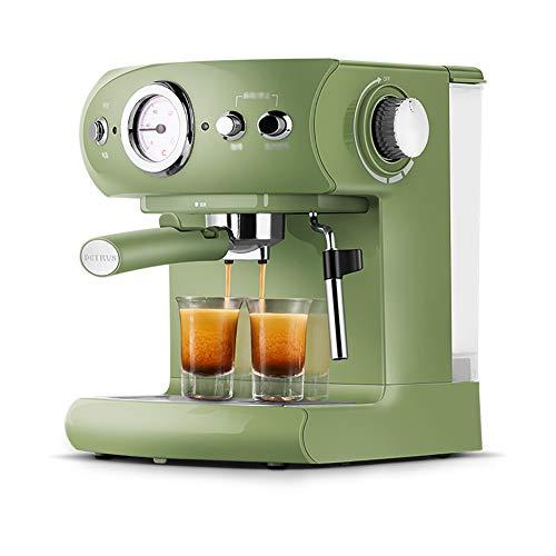 Macchina Per Caffè,Con Filtro,Capacità Serbatoio D'acqua 1,5 Litri,Sensore Temperatura Acqua,Funzione Acqua Calda, Attrezzatura Per L'assorbimento Degli Urti, Pressione 19bar, Verde
