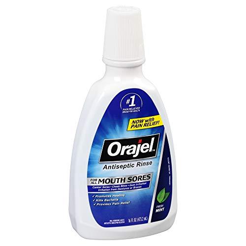 Orajel Antiseptic Mouth Sore Rinse 16 oz (Pack of 3)