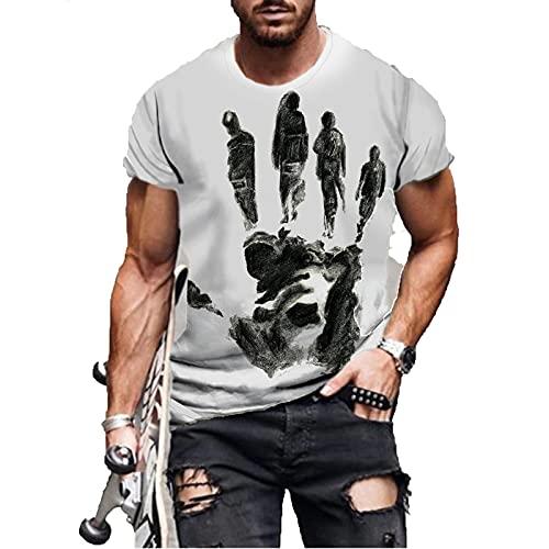 SSBZYES Camiseta De Verano para Hombre Camiseta De Talla Grande para Hombre Camiseta De Manga Corta para Hombre Estampado Pintura Abstracta Camiseta De Manga Corta Camiseta Casual