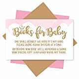 25 Books For Baby Shower Request Cards - Heaven Sent Baby Shower Invitation Inserts, Book Request Baby Shower Guest Book Alternative, Bring A Book Instead Of A Card, Baby Shower Book Request For Girls