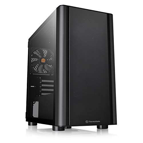 Thermaltake V150 Tempered Glass Micro-ATX Mini Tower Gaming Computer Case with One 120mm Rear Fan Pre-Installed CA-1R1-00S1WN-00