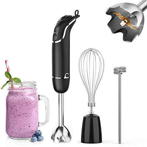 KOIOS Powerful 2-in-1 Hand Blender with 6 Speed, 500 W - Black