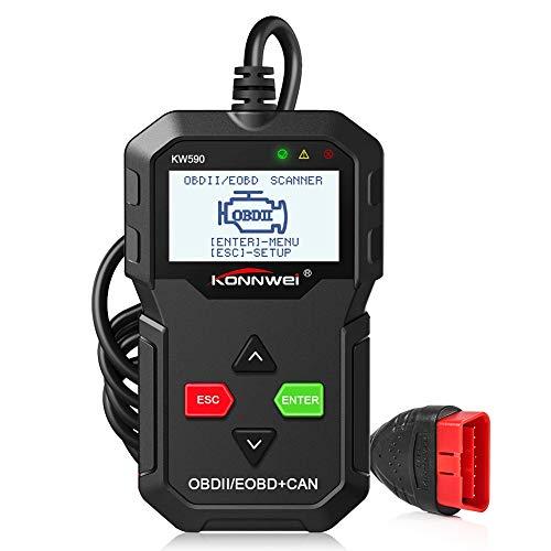 ZOTO OBD2 Diagnosegerät, EOBD Handscanner für Alle OBDII Protokoll Benzin Auto Fahrzeuge nach 1996