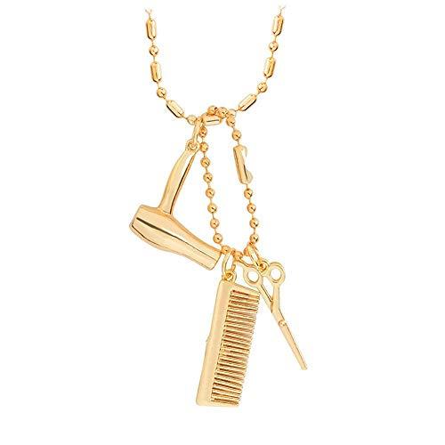 Amzdai Herrenhalskette Halskette Damen Necklac Stereo Kaffee-Haferl guter Freund besten Freundinnen Legierung Halskette 41 * 18mm & 43 * 15mm Halskette