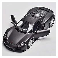 ダイキャストカーモデル 1:24ポルシェ918カー合金カーモデルシミュレーション車の装飾コレクションギフト玩具ダイカストモデル少年おもちゃ 車モデル ダ (Color : Matte Black)