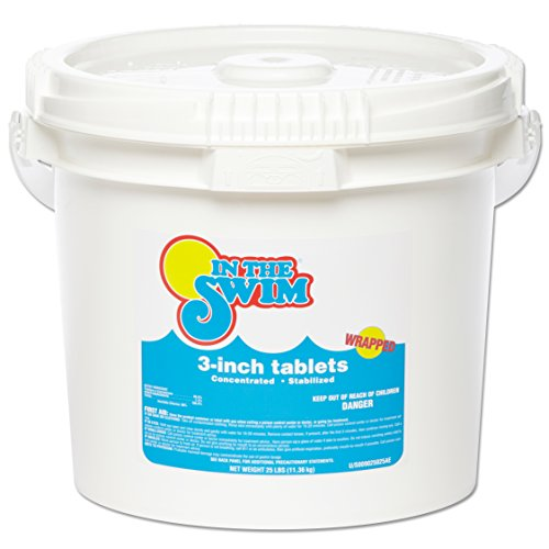 """In The Swim 3"""" Inch Pool Chlorine Tablets - 25 Pounds"""