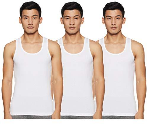 Amazon Brand - Symbol Men's Plain Vest (Pack of 3) (SYMVSTPO3-08_White 3 M)