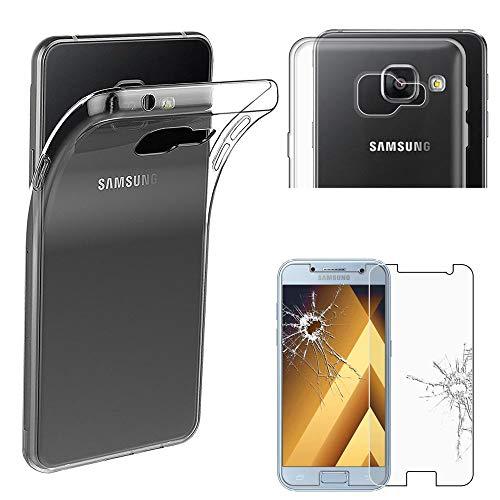 ebestStar - Funda Compatible con Samsung A5 2017 Galaxy SM-A520F Carcasa Silicona, Protección Claro Ultra Slim, Transparente + Cristal Templado [Aparato: 145 x 71 x 7.8mm, 5.2  ]