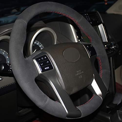JIANGJUNCHE Für Schwarz DIY Hand genäht Auto Lenkradbezug für Toyota Land Cruiser Prado 2010 2015 Tundra Tacoma 4Runner,Light Blue