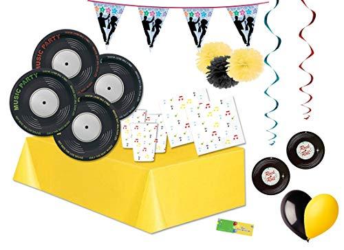 Kit n 46 Addobbi Festa Music Party - Disco Music Anni '70 Compleanno