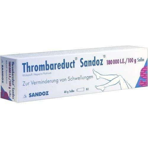 Thrombareduct Sandoz 180.000 I.E, 40 g Salbe