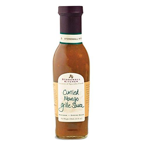 Curried Mango Grille Sauce von Stonewall Kitchen (330 ml) - exotisch, fruchtig, süß & leicht scharf - eine Geschmacksreise ins ferne Indien