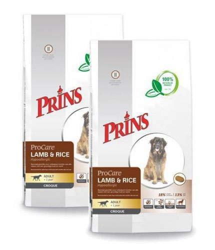 2x 10 KG Prins procare croque hypo allergic lam/rijst hondenvoer