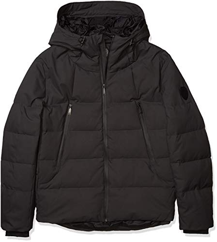 Vince Camuto Men's Hooded Down Puffer Jacket, Stealth Grey, Medium