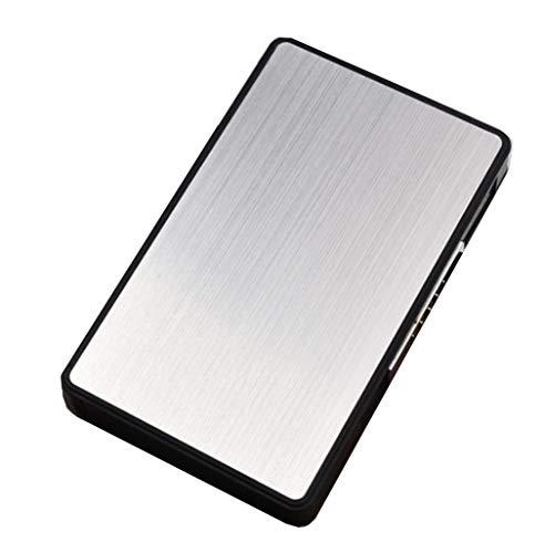 Ning Night vrouwelijke Estesa dun sigarettenetui multifunctionele sigarettenhouder USB-oplader van Sigaro zonder vlam windscherm (2 boxen)