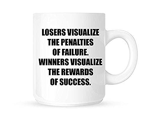 Jupsero El perdedor puede ver el castigo por el fracaso. El ganador visualiza la recompensa por el éxito Inspiración / Inspiración Taza de té / café / Taza Grandes ideas para regalos
