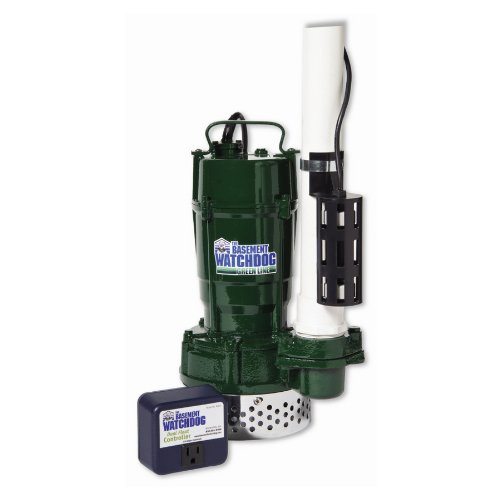 THE BASEMENT WATCHDOG Model BWT075 3/4 HP 5,300 GPH at 0 ft. and 3,630 GPH at 10 ft. Cast Iron/Cast Aluminum Submersible Sump Pump with Caged Dual Micro Reed Float Switch