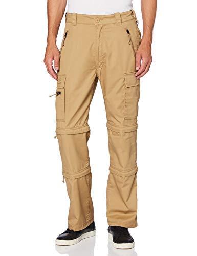 Brandit Savannah Pantalones para Senderismo, Beige, XXXL para Hombre