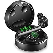 yobola Draadloze Oortjes, Wireless Earbuds Bluetooth 5.0 24H Playtime 3D stereo HD in-ear Oordopjes Draadloos met microfoon, Draadloze Oordopjes met draagbaar oplaadhoesje