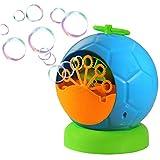 Trendario Seifenblasenmaschine Für Kinder & Erwachsene im Fussball Design, 500 Seifenblasen pro...