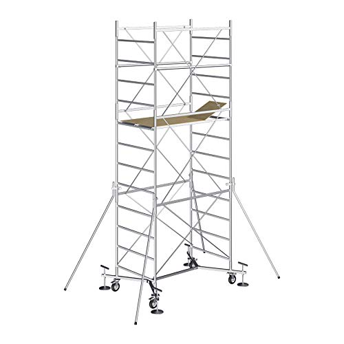 Andamio de acero con una altura de trabajo de 7,40m - Modèle M5 EASY - Made in Italy - SCEDIL