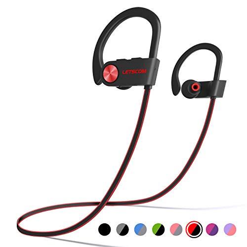 LETSCOM Bluetooth Headphones IPX7 Waterproof, Wireless Sport...