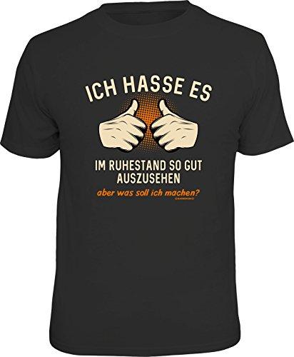 RAHMENLOS Original T-Shirt für den Rentner: Ich Hasse es im Ruhestand so gut auszusehen, Aber was soll ich Machen?, Schwarz, XL
