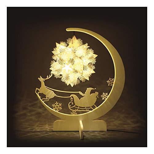 LILIS Lampara de Noche Lámparas de Mesa Estudio de Bricolaje luz de la Noche de Navidad Luces de Navidad USB de Tabla del Escritorio 3D de la lámpara de la lámpara de Papel Inicio Talla de la lámpara