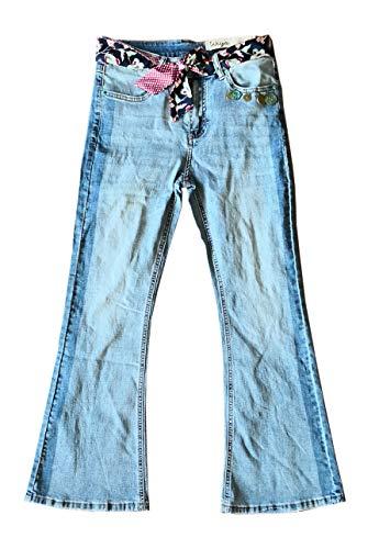 Wiya Damen Bootcut Jeans Hose Reißverschluss Freizeithose DY615 (XS=34)