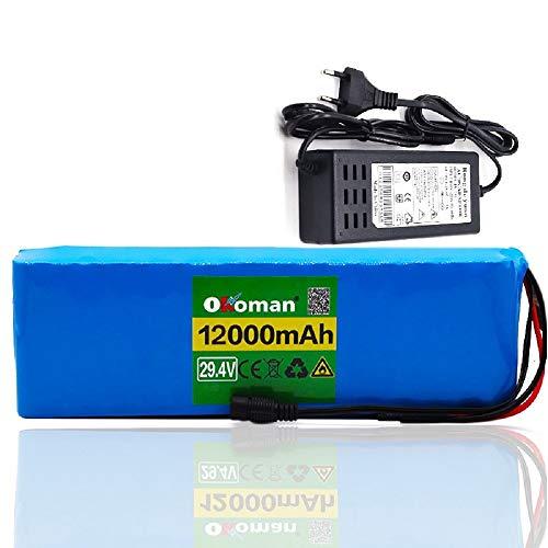 Batería de iones de litio de 29,4 v 12Ah 7S4P 18650 baterías recargables para motor de bicicleta eléctrica ebike scooter BMS + cargador