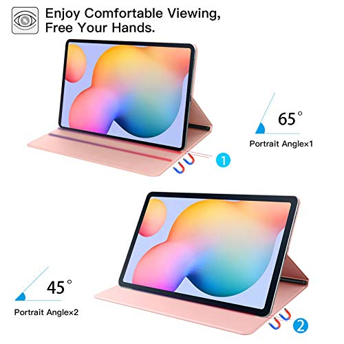 ZtotopCase Hülle für Samsung Galaxy Tab S6 Lite,Ultra dünn Smart Magnetisches Abdeckung Schutzhülle mit Stifthalter,Automatischem Schlaf/Aufwach,für Samsung S6 Lite 10.4 Zoll 2020 Tablette,Roségold