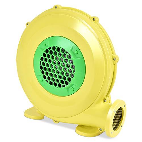 GOPLUS Bläser Gebläse Luftgebläse elektrisch Luftpumpe Ventilator professionelle Windmaschine aus Eisen und PP, gelb und grün 220-240V/50HZ (450W)