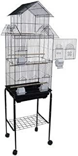 Mcage Large Pagoda House Canary Parakeet Cockatiel Lovebird Finch Bird Cage with Stand -18