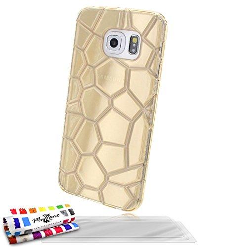 Muzzano Original Artic Flexibles Case met 3 ultra heldere screen protector voor Samsung Galaxy S6 Edge - Golden