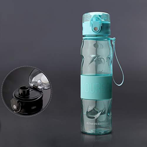 GHFJ Botella Deportiva de Plástico Sin BPA con Filtro & Marcador de Tiempo para Viaje,Gimnasio,Correr
