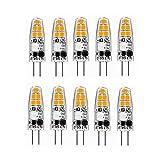 WELSUN G4 LED Bulbos JC Base BI-Pin Lights 2W CA/DC 12V 10W-20W T3 Bombilla Halógena Reemplazo Bulbos de Paisaje 10pcs (Color : Warm Wite)
