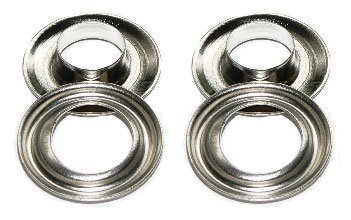 #2 3 8'' ClipsShop Challenge the lowest price of Japan Grommets Nickel Qty 500 Max 80% OFF -