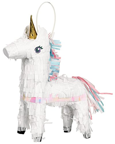 Amscan 242126 Mini Piñata Magical Unicorn, multicolor