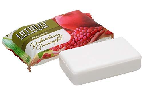 100x UMIDO Seife 80 g Granatapfel | Handseife | Waschstück | Seifenstück für ihre Körperpflege | Festseife (11-B2B)