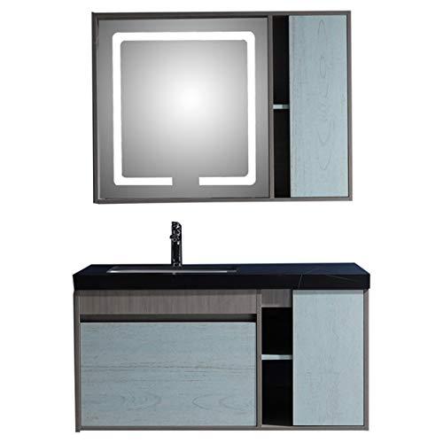 ZoSiP Mueble Lavabo y Mueble Espejo Gabinete de baño de encimera de...