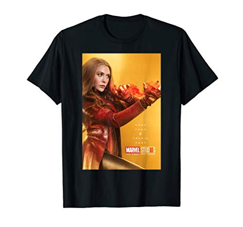 Marvel Studios 10 Years Scarlet Witch Poster Graphic T-Shirt