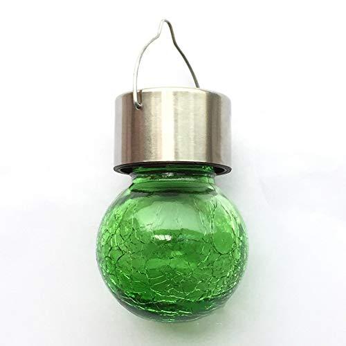 Solar LED Riss Glas hängende Kugel Licht, geeignet für Garten Garten Park Hochzeitsdekoration-Green