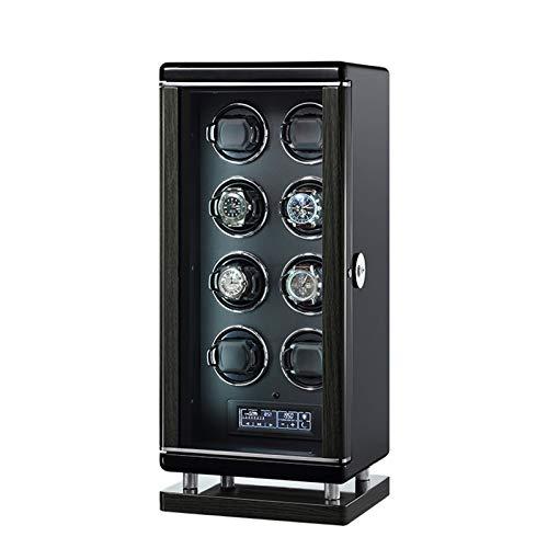 YZSHOUSE Estuche Relojes 8 Automático Relojes Huella Digital Inteligente con Mando A Distancia Super Silencioso Iluminación LED 6 Velocidades de Relojes Hombre Mujer